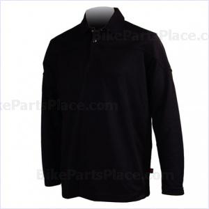 Jersey Polo Pony Long-Sleeve Black