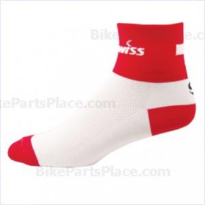 Socks - WhiteRed