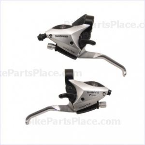 Brake Lever and Shift Lever Set - Altus Silver