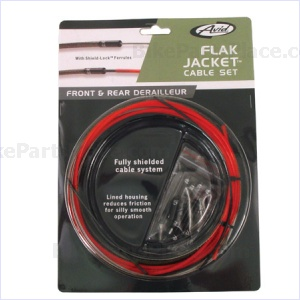 Gear-Cable Set Flak Jacket Red