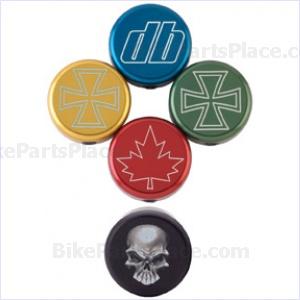 Handlebar End Plug - Bar End Slugs Iron Cross Logo